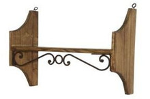 20'' Wall Shelf w/ Iron