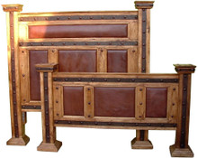 Hacienda King Bed w/ Leather