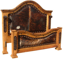 Alamo Queen Bed w/ Cowhide