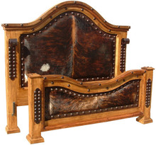 Alamo King Bed w/ Cowhide