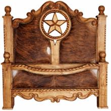 Texana Cowhide Queen Bed