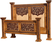 Hacienda Cal King Tooled Leather Bed