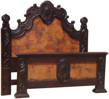 Medallon Queen Bed w/ Copper
