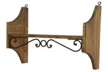 39'' Wall Shelf w/ Iron