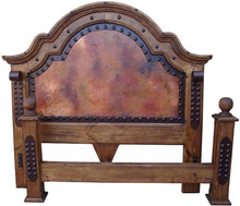 Emperador Cal King Bed w/ Copper