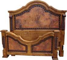Lazaro Cal King Bed w/ Copper