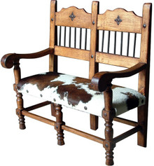 Torno Bench w/ Cowhide 25% OFF * 1 LEFT AT THIS PRICE