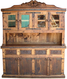 Carved Four Door Kitchen Hutch