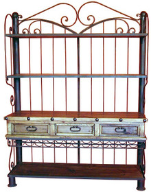 Three Drawer Iron Kitchen Cabinet