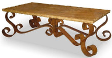 Marble Top Coffee Table Iron Base