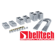 "Belltech Universal 2"" Extruded Aluminum Lowering Blocks w/ 2 Degree Taper"