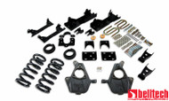 """Belltech 01-06 Silverado/Sierra Ext Cab 4""""/5"""" Front/6""""/7"""" Rear Drop Lowering Kit 672"""