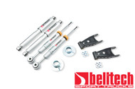 """Belltech 04-08 Ford F150 4WD +2"""" to -2"""" Front/2""""/4"""" Rear Drop w/SP Shocks Lowering Kit 935SP"""
