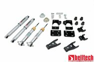 """Belltech 07-13 Silverado/Sierra +1"""" to -2"""" Front/2""""/3"""" Rear Drop w/SP Shocks Lowering Kit 645SP"""