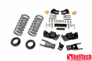 "Belltech 97-00 Silverado/Sierra 3/4 Ton & 1 Ton Crew Cab/Dually 1""/2"" Front/4"" Rear Drop Lowering Kit 715"