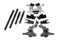 "Belltech 97-00 Silverado/Sierra 3/4 Ton & 1 Ton Crew Cab/Dually 3"" Front/4"" Rear Drop w/ND2 Shocks Lowering Kit 716ND"