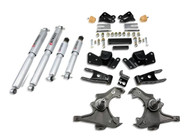 "Belltech 97-00 Silverado/Sierra 3/4 Ton & 1 Ton Crew Cab/Dually 3"" Front/4"" Rear Drop w/SP Shocks Lowering Kit 716SP"