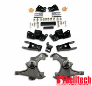 "Belltech 97-00 Silverado/Sierra 3/4 Ton & 1 Ton Crew Cab/Dually 3"" Front/4"" Rear Drop Lowering Kit 716"