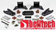 "Belltech 87-96 Ford F150 Ext Cab 4"" Rear Drop Shackles & Hangers"