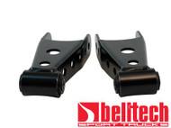 "Belltech 73-14 Chevrolet Silverado/Sierra 1/2 Ton,92-99 Tahoe,Yukon,Suburban,94-01 Dodge Ram 1500,97-03 Ford F150 2"" Rear Drop Shackles"