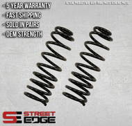 "Street Edge 98-05 S10 Blazer/Jimmy 2WD V6 2"" to 3"" Front Lowering Spring Set"