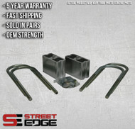 "Street Edge 4"" Universal Extruded Aluminum Lowering Blocks w/2* Angle"