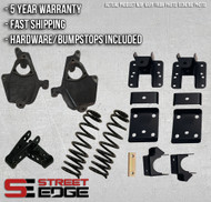 "14+ Chevy Silverado/GMC Sierra Regular Cab 1500 2WD 3"" Front & 5"" Rear Lowering Kit"