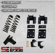 """14+ Chevy Silverado/GMC Sierra Extended,Crew Cab 1500 2WD 2"""" Front & 4"""" Rear Lowering Kit"""