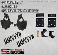 """14+ Chevy Silverado/GMC Sierra Extended,Crew Cab 1500 2WD 4"""" Front & 7"""" Rear Lowering Kit"""