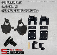 """14+ Chevy Silverado / GMC Sierra Extended,Crew Cab 1500 2WD 2"""" Front & 4"""" Rear Lowering Kit"""