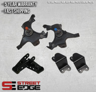 """88-98 Chevy Silverado,C-1500/GMC Sierra Extended Cab 2WD 2"""" Front & 4"""" Rear Lowering Kit w/ Spindle"""