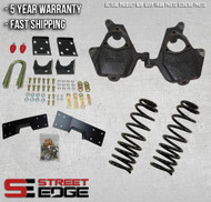 "04-06 Chevy Silverado/GMC Sierra Crew Cab 1500 2WD 4"" Front & 6"" Rear Lowering Kit w/notch"