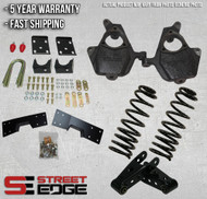 """99-06 Chevy Silverado/GMC Sierra Extended Cab 1500 2WD 5"""" Front & 7"""" Rear Lowering Kit"""