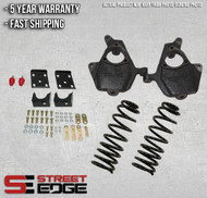 """07-13 Chevy Silverado/GMC Sierra Extended,Crew Cab 1500 2WD/4WD 4"""" Front & 7"""" Rear Lowering Kit w/spring"""