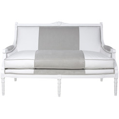 Eloise Sofa in Dakota White & Gray
