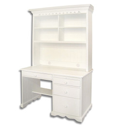 Small Amor Traditional Desk and Hutch