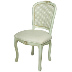 French Desk Chair in Versailles Blue