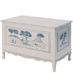 French Toy Chest in Country Toile