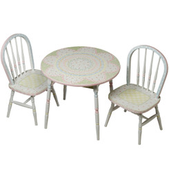 Round Table & Chair Set in Serendipity