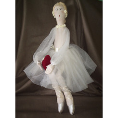 Doll: Ballerina in White Dress