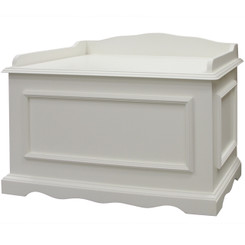 Vintage Toy Chest in Antico White