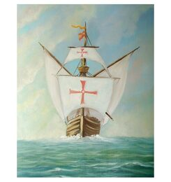 Columbus' Ship 'Nina' - An Original Watercolor