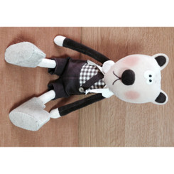 This shy teddy is sure to bring an added sweetness to your room and a smile to your child's face.