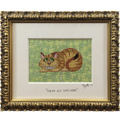 Needlepoint - Cheshire Cat, Alice in Wonderland