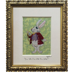 Needlepoint - White Rabbit, Alice in Wonderland