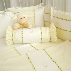 Yellow Hopper with Flora Baby Crib Set