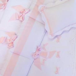 Midori Ribbon Bedding Set in Pink