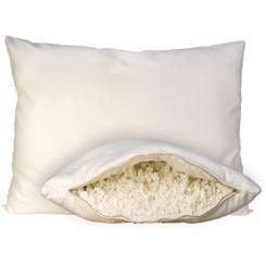 OMI Wool-Wrapped 100% Natural Shredded Rubber Pillow