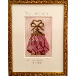 Needlepoint - Pink Perfume Bottle