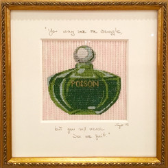 Needlepoint - Poison Perfume Bottle